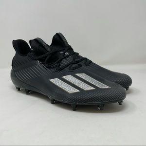 New Adidas Adizero Football Cleats Black Silver Metallic EH2707